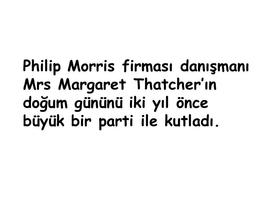 Philip Morris firması danışmanı