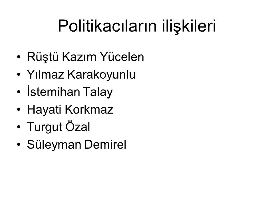Politikacıların ilişkileri