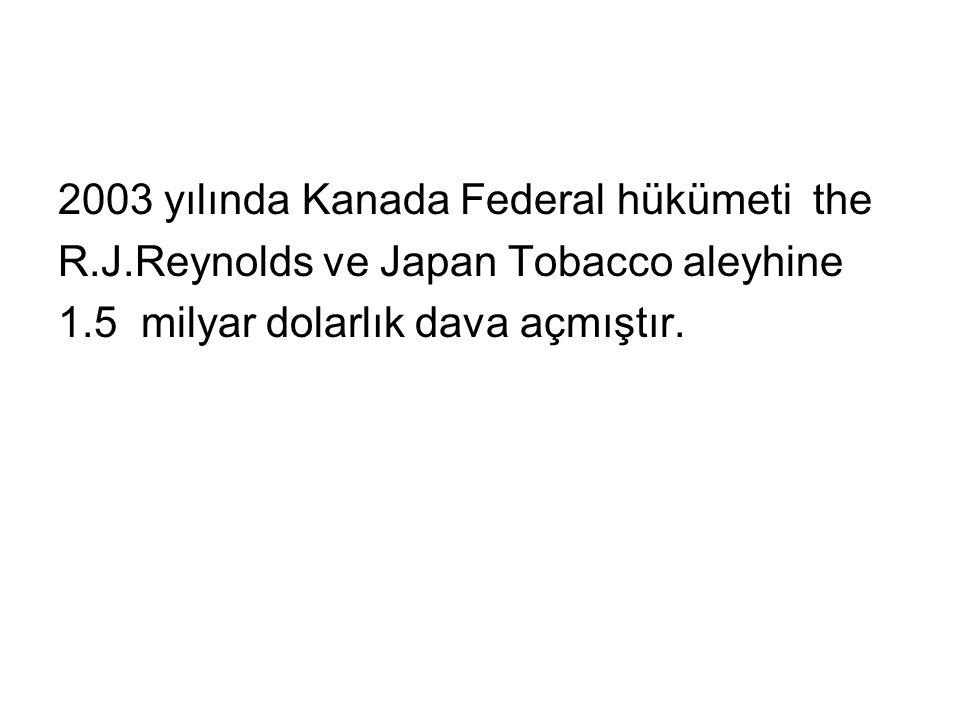 2003 yılında Kanada Federal hükümeti the