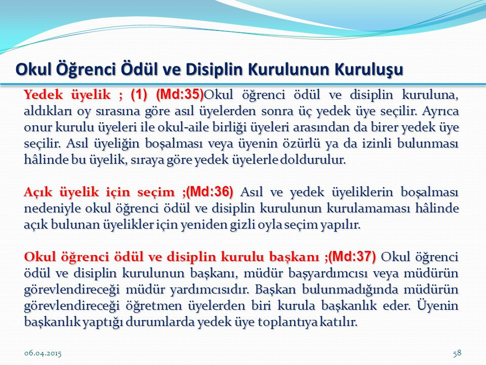 Okul Öğrenci Ödül ve Disiplin Kurulunun Kuruluşu