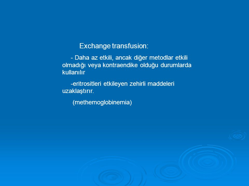 Exchange transfusion: