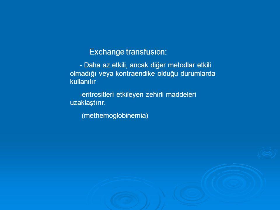 Exchange transfusion: