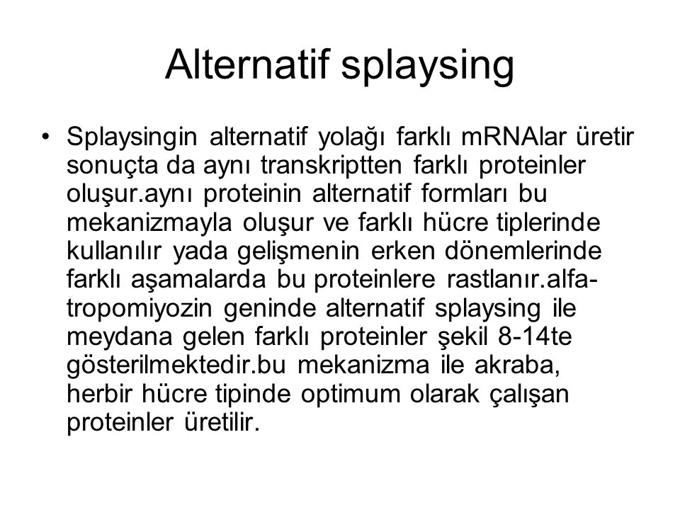 Alternatif splaysing