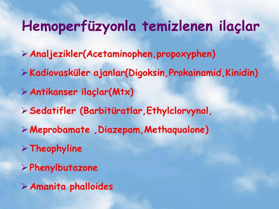 Hemoperfüzyonla temizlenen ilaçlar