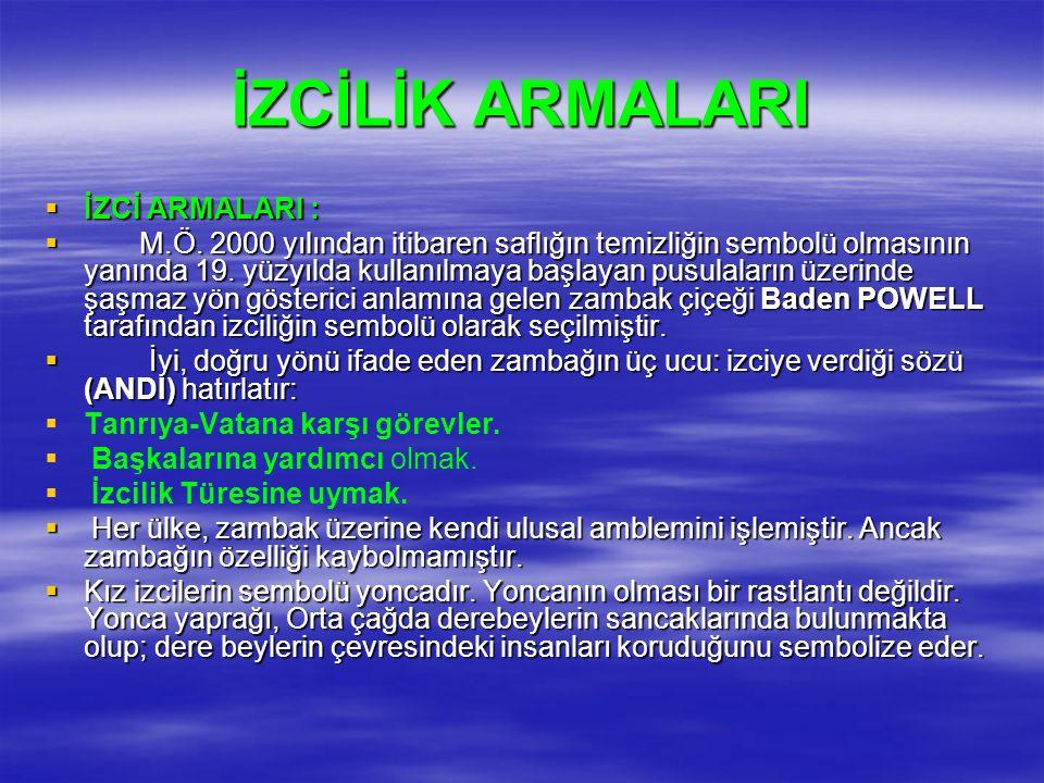 İZCİLİK ARMALARI İZCİ ARMALARI :