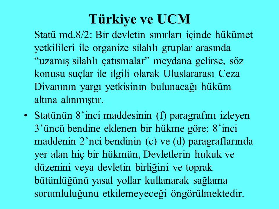 Türkiye ve UCM