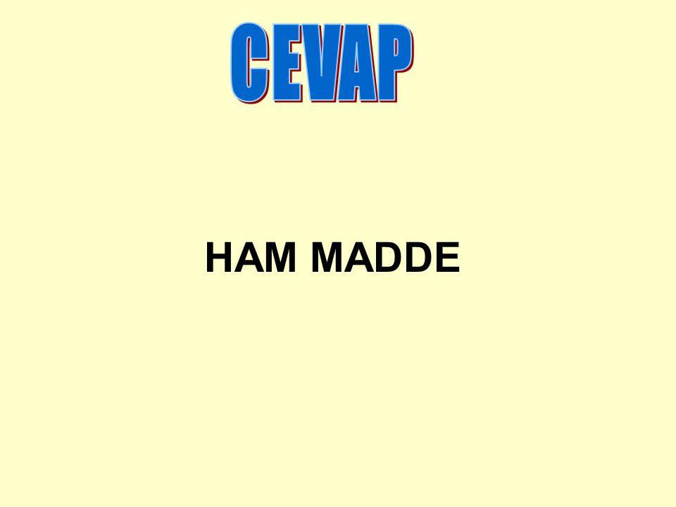 CEVAP HAM MADDE
