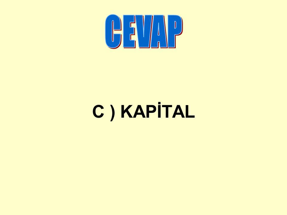CEVAP C ) KAPİTAL