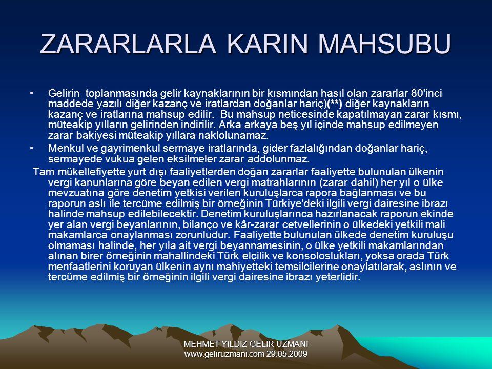 ZARARLARLA KARIN MAHSUBU