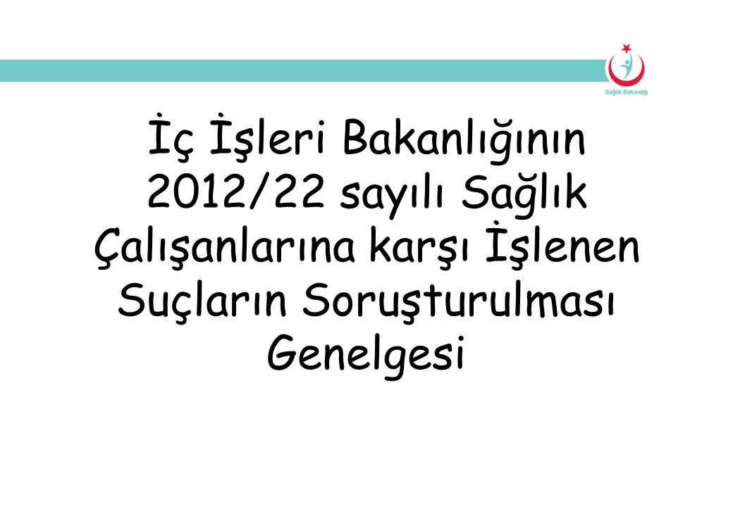 İç İşleri Bakanlığının 2012/22 sayılı Sağlık Çalışanlarına karşı İşlenen Suçların Soruşturulması Genelgesi