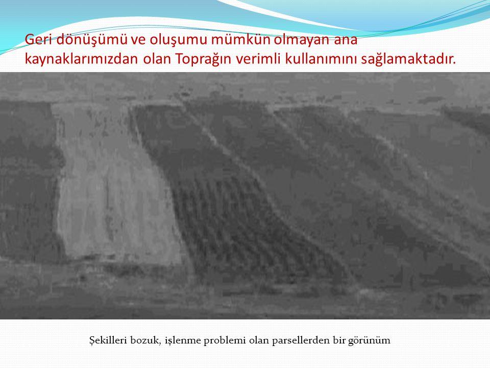 Geri dönüşümü ve oluşumu mümkün olmayan ana kaynaklarımızdan olan Toprağın verimli kullanımını sağlamaktadır.