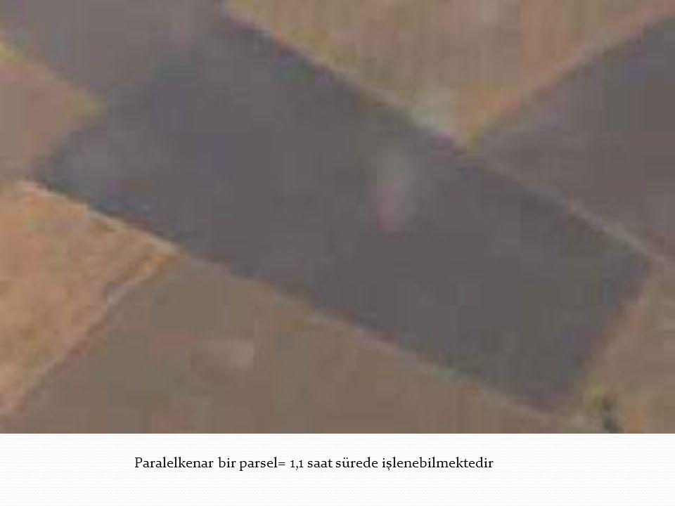 Paralelkenar bir parsel= 1,1 saat sürede işlenebilmektedir