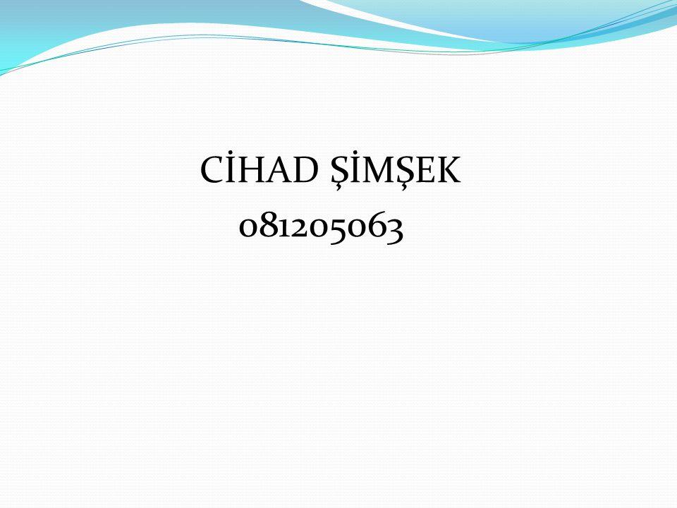 CİHAD ŞİMŞEK 081205063