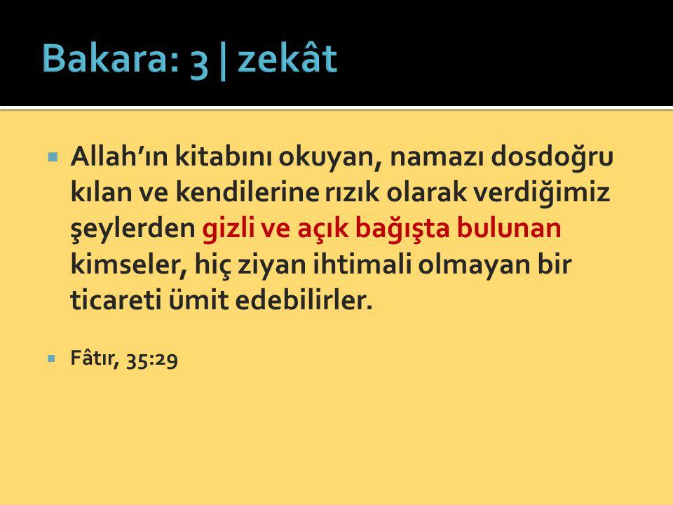 Bakara: 3 | zekât