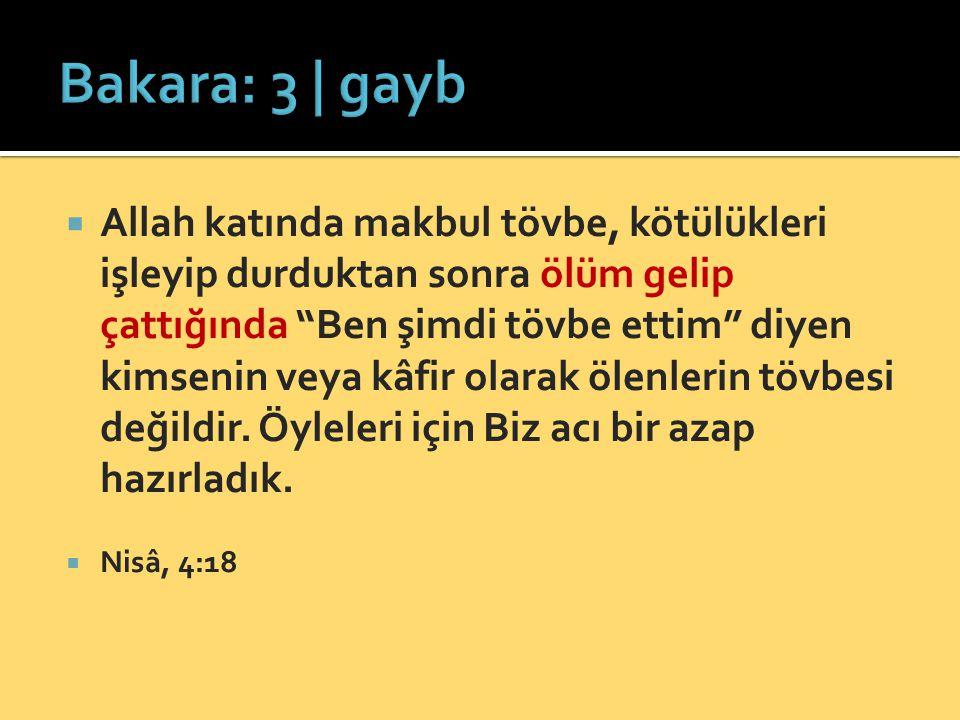 Bakara: 3 | gayb