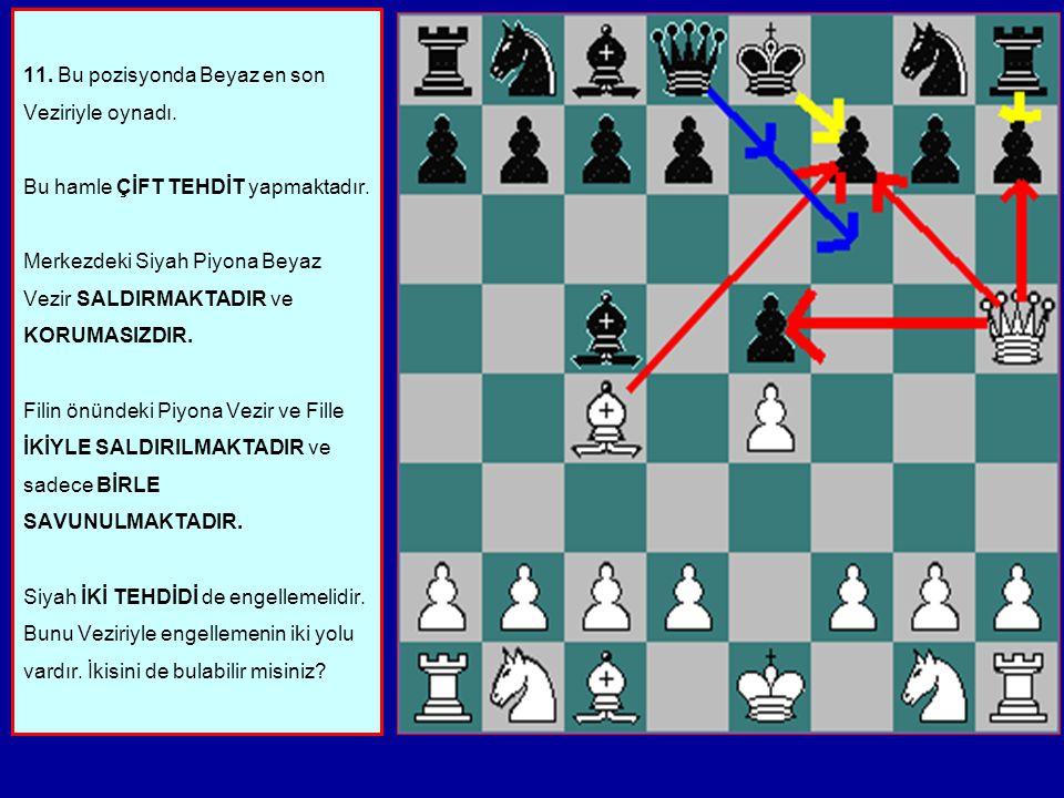 11. Bu pozisyonda Beyaz en son Veziriyle oynadı