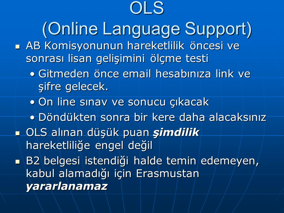 OLS (Online Language Support)