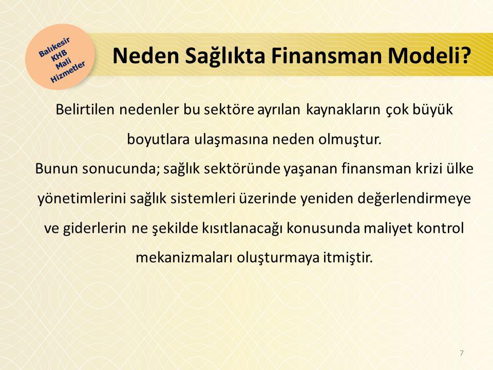 Neden Sağlıkta Finansman Modeli