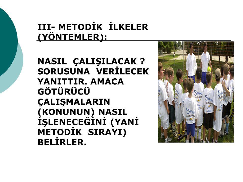 III- METODİK İLKELER (YÖNTEMLER):