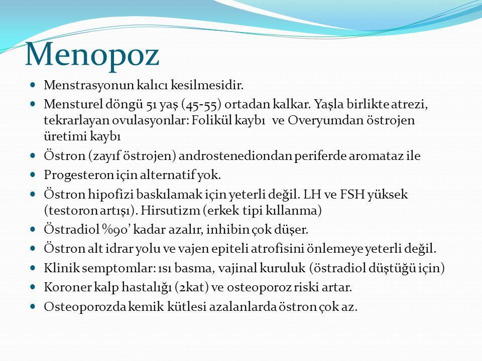 Menopoz Menstrasyonun kalıcı kesilmesidir.