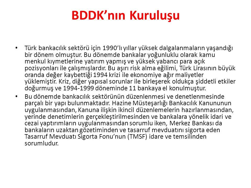 BDDK'nın Kuruluşu