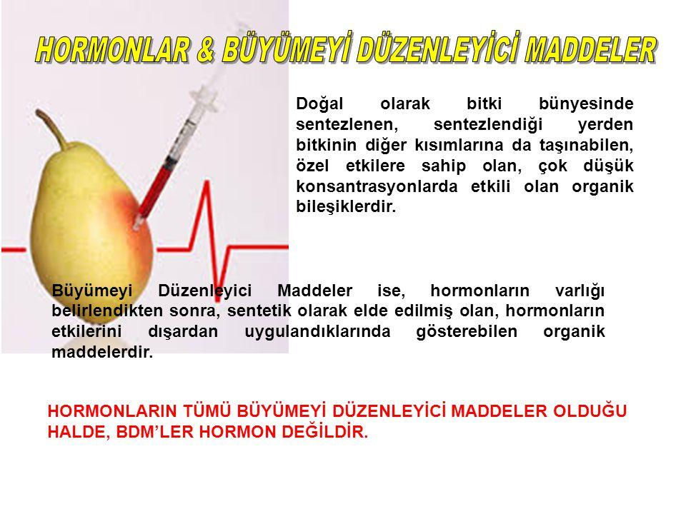 HORMONLAR & BÜYÜMEYİ DÜZENLEYİCİ MADDELER