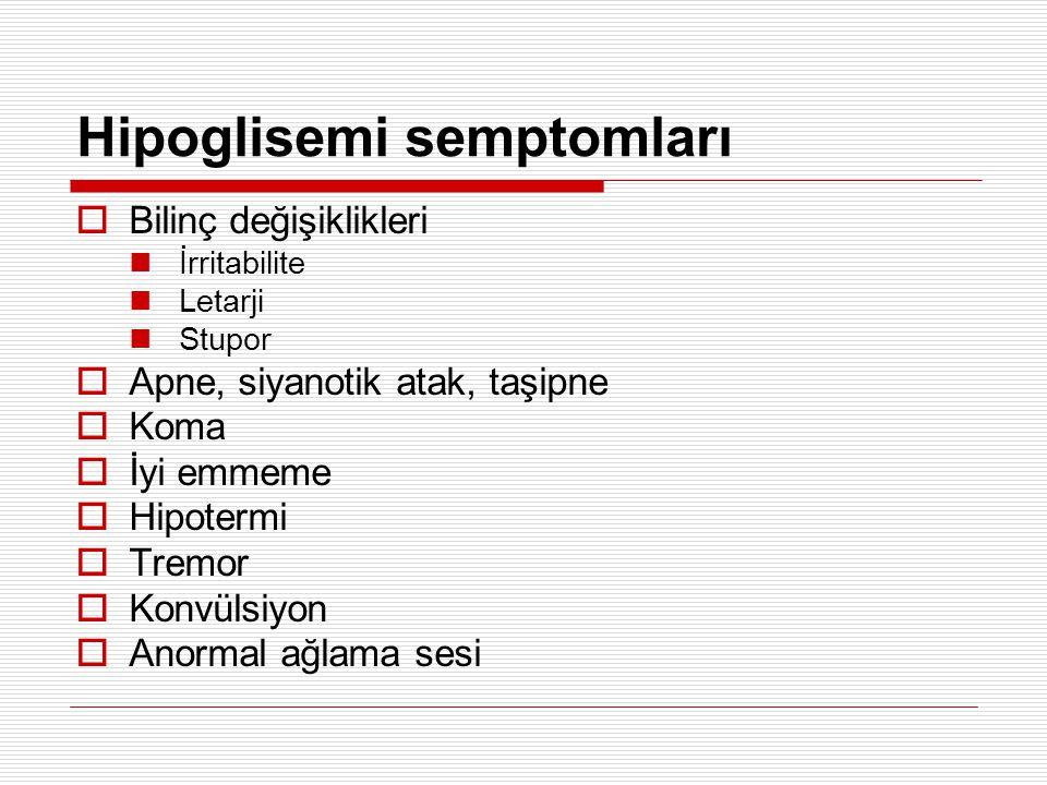 Hipoglisemi semptomları
