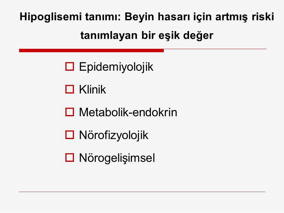 Epidemiyolojik Klinik Metabolik-endokrin Nörofizyolojik Nörogelişimsel