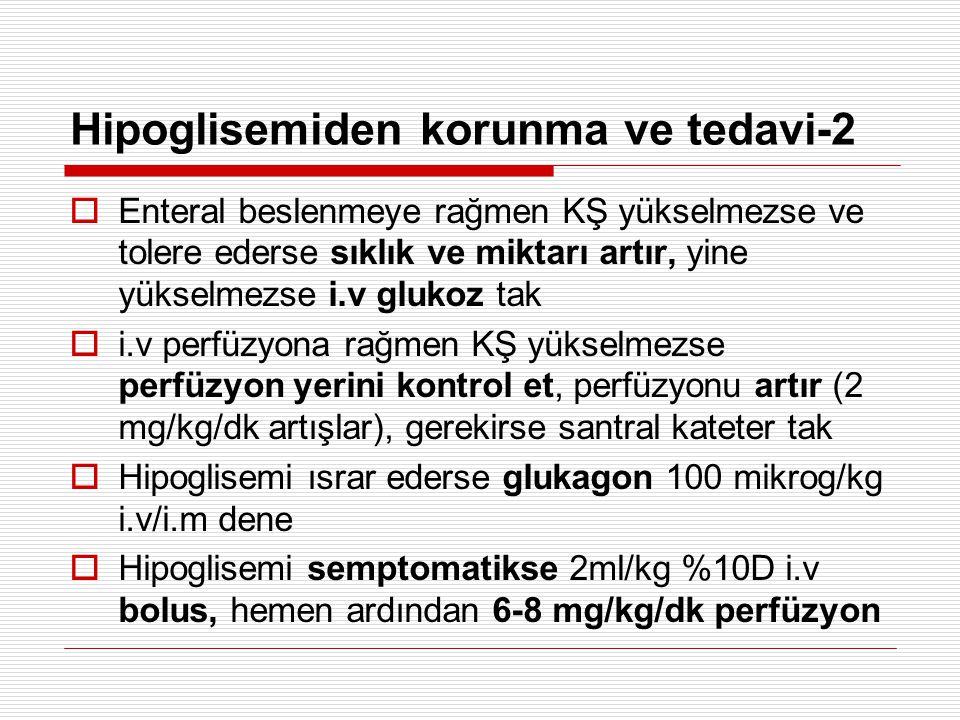 Hipoglisemiden korunma ve tedavi-2
