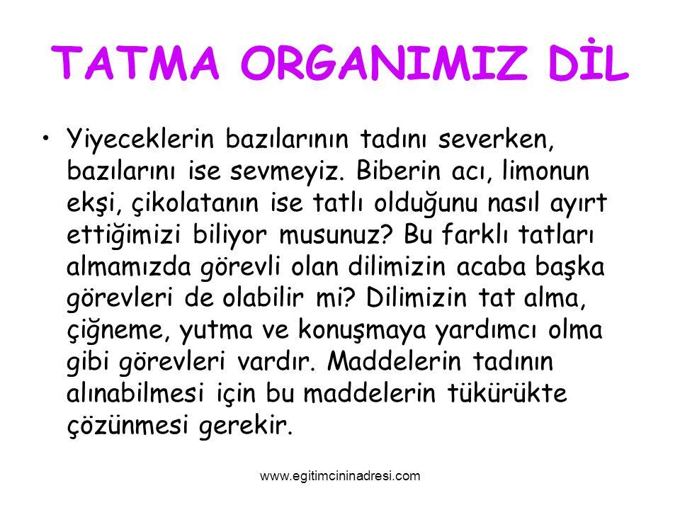 TATMA ORGANIMIZ DİL
