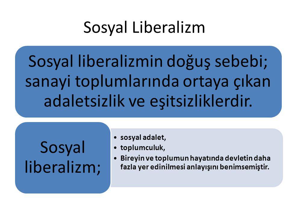 Sosyal Liberalizm Sosyal liberalizmin doğuş sebebi; sanayi toplumlarında ortaya çıkan adaletsizlik ve eşitsizliklerdir.