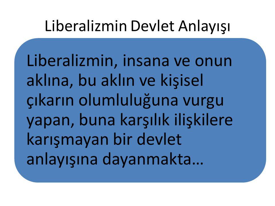 Liberalizmin Devlet Anlayışı