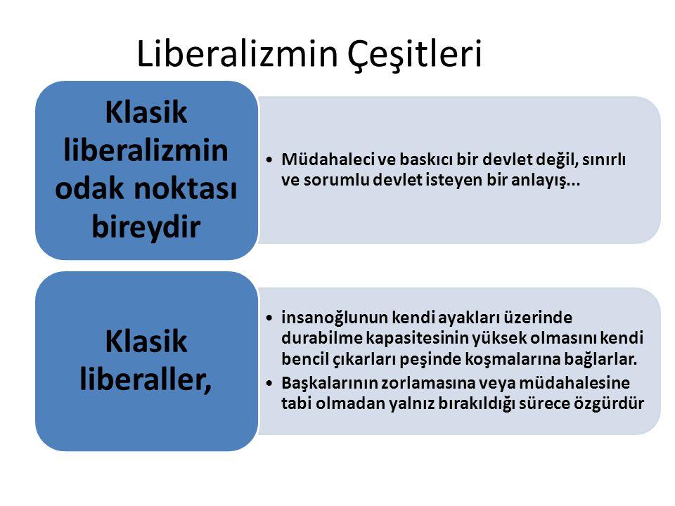 Liberalizmin Çeşitleri