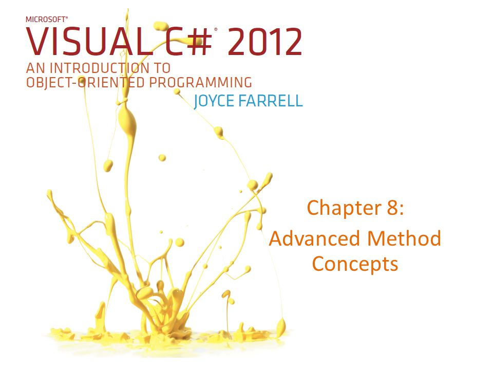 Chapter 8: Advanced Method Concepts
