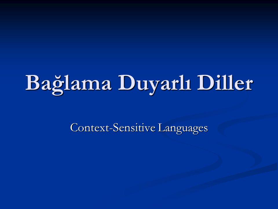 Bağlama Duyarlı Diller