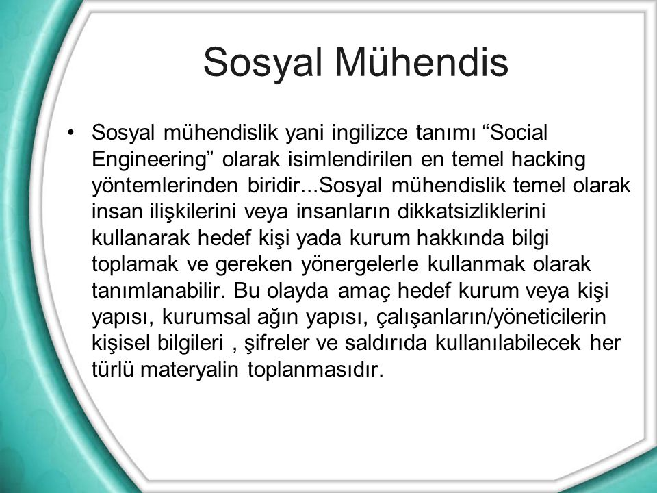 Sosyal Mühendis