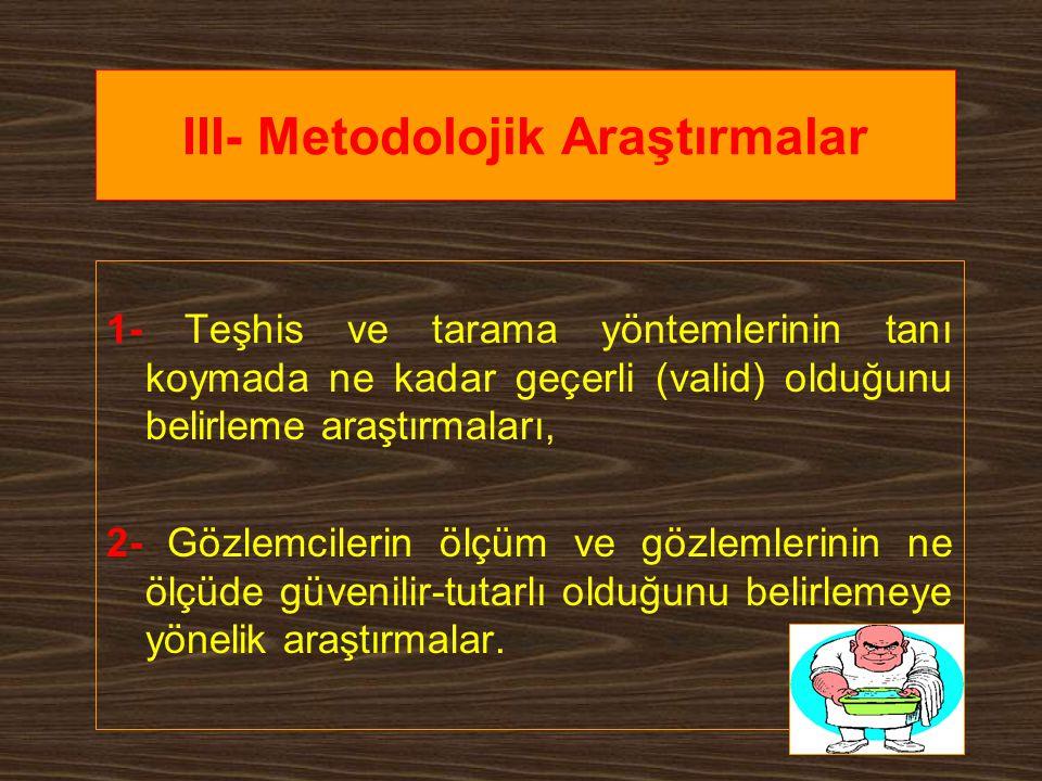 III- Metodolojik Araştırmalar