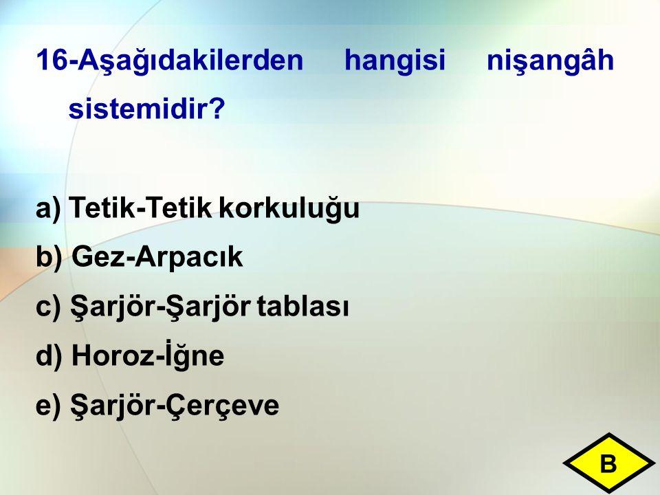 16-Aşağıdakilerden hangisi nişangâh sistemidir