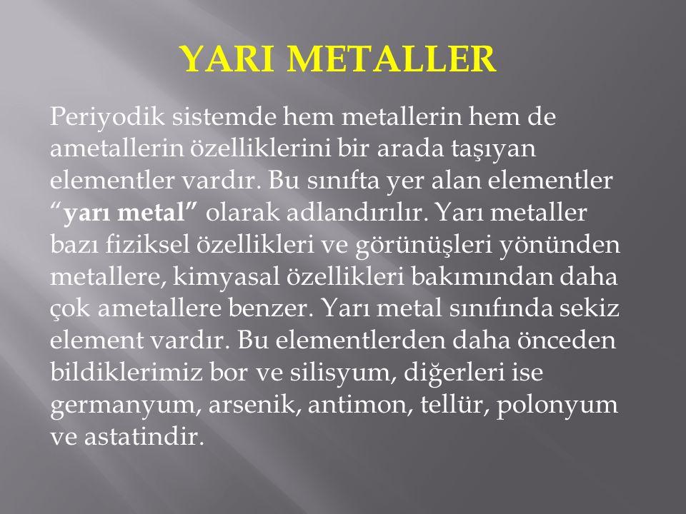 YARI METALLER