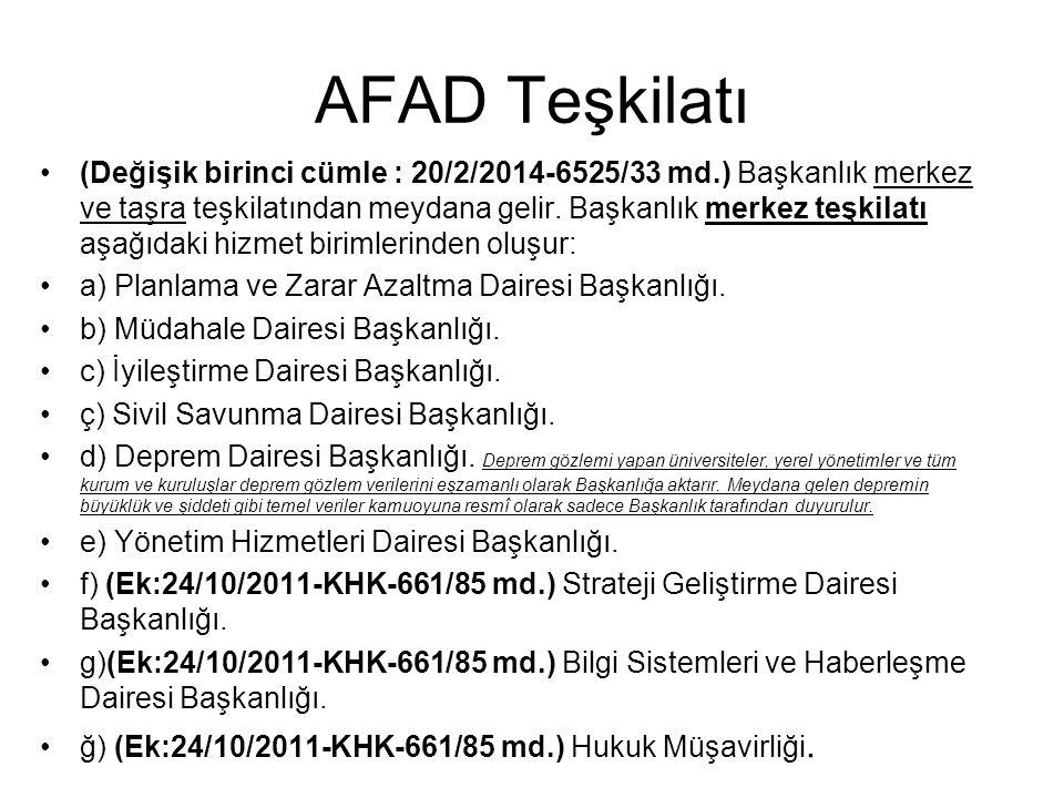AFAD Teşkilatı
