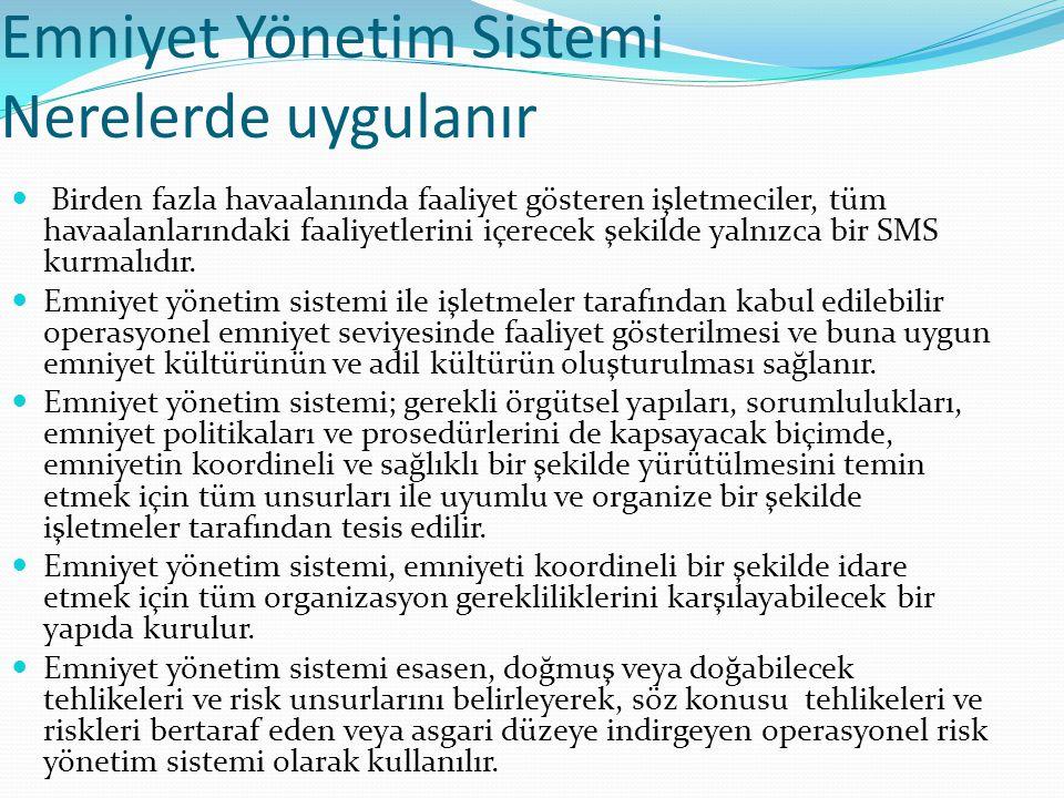 Emniyet Yönetim Sistemi Nerelerde uygulanır