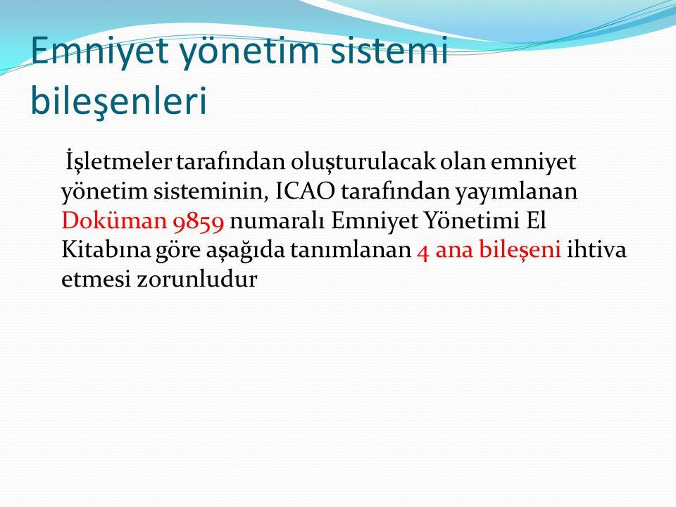 Emniyet yönetim sistemi bileşenleri