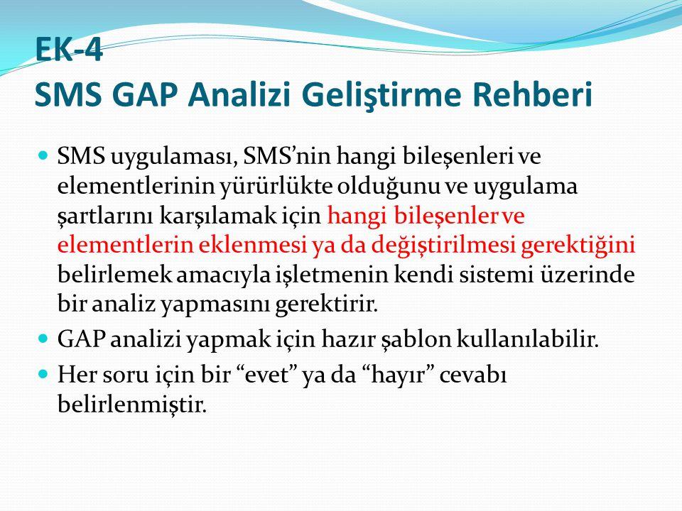 EK-4 SMS GAP Analizi Geliştirme Rehberi