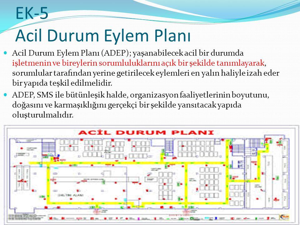 EK-5 Acil Durum Eylem Planı