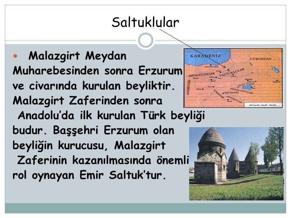 Saltuklular Malazgirt Meydan Muharebesinden sonra Erzurum