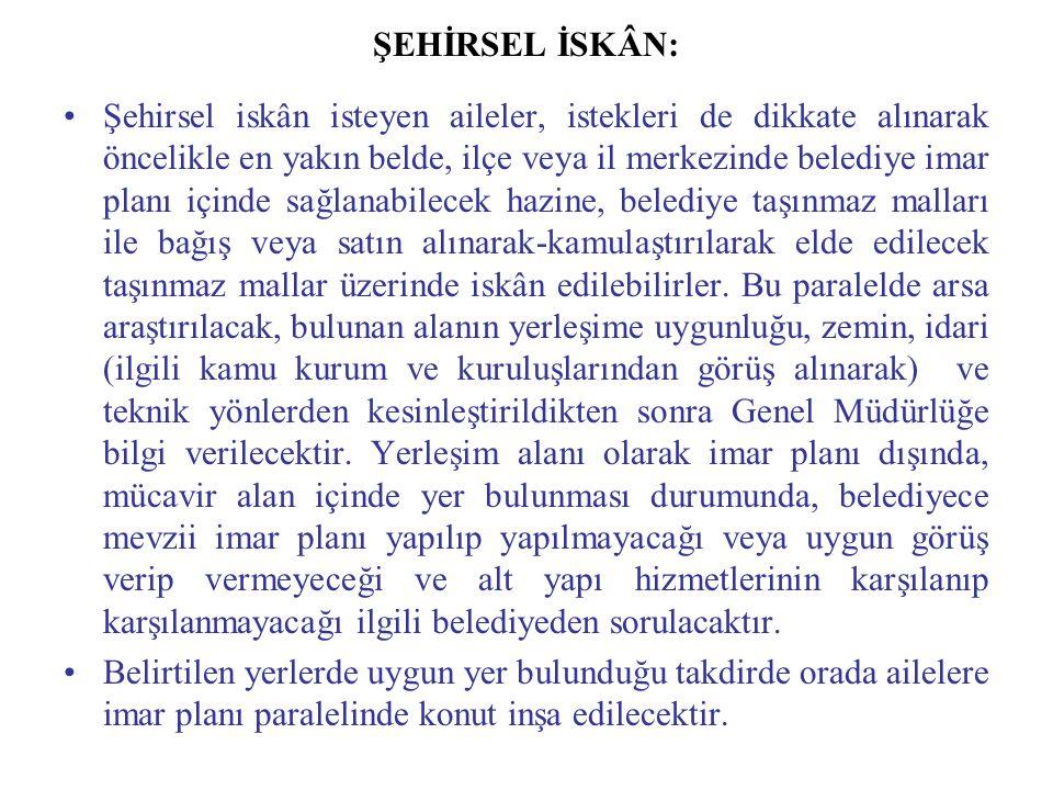 ŞEHİRSEL İSKÂN: