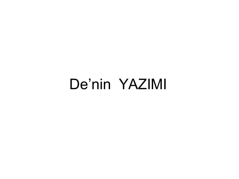 De'nin YAZIMI