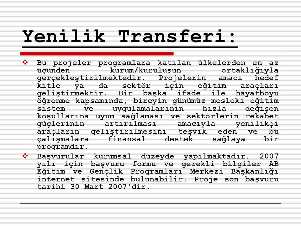 Yenilik Transferi: