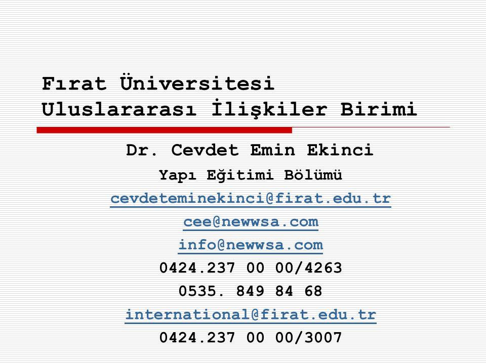 Fırat Üniversitesi Uluslararası İlişkiler Birimi