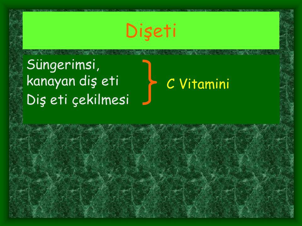 Dişeti Süngerimsi, kanayan diş eti C Vitamini Diş eti çekilmesi